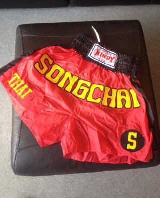 Trenýrky Songchai pro Muay Thai, S1, K1, MMA - ČERVENO/ČERNÉ