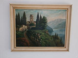 Starý obraz ze Sudet signováno