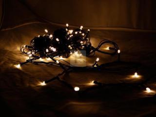 Vánoční osvětlení 100 LED - teplá bílá