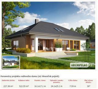 projekty rodinných domů Archipelag