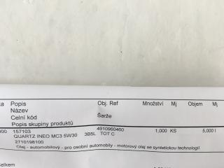 Motorový olej Total Quartz INEO MC3 5W-30, 5L