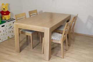 Stůl jídelní rozkládací + 4 židle