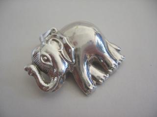 Přívěšek - SLON - stříbro - Ag