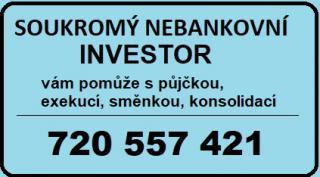 Soukromý nebankovní investor  půjčky, směnky