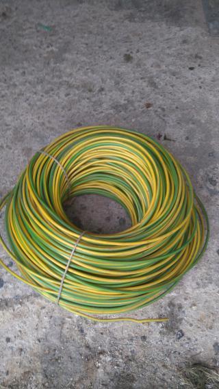 Drát žlutozelený CY 6mm2