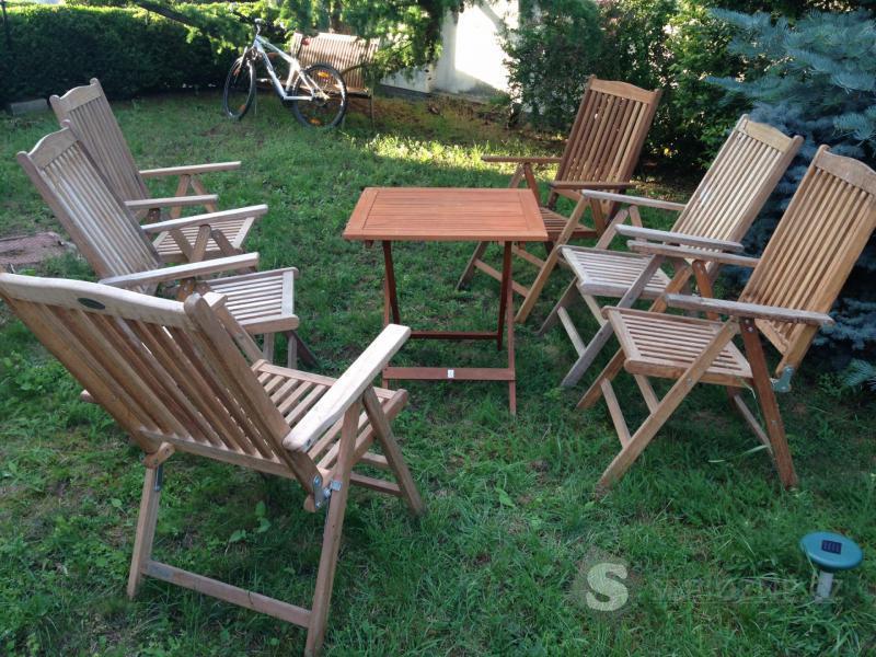 Zahradní stůl + 6 židlí