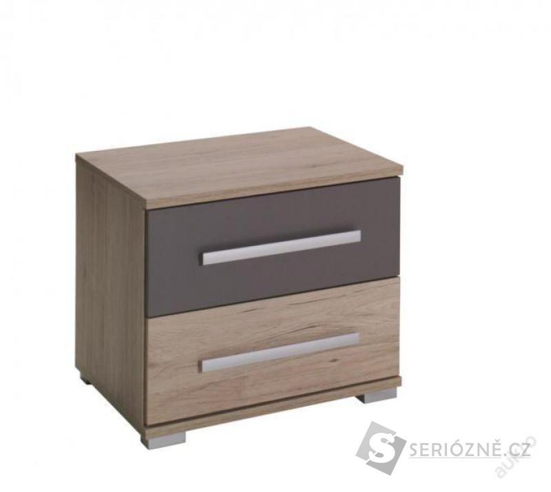 Noční stolek DIONE D02, skříňka se šuplíky