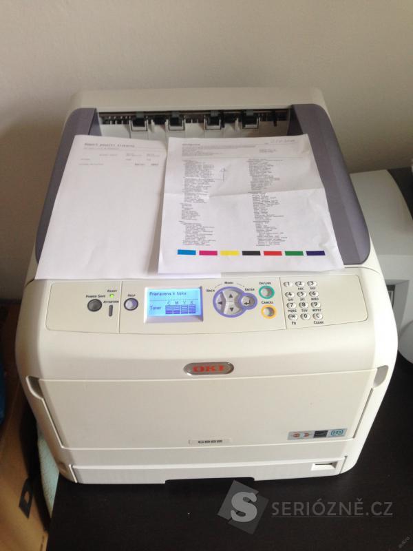 Barevná laserová A3/A4 tiskárna OKI C822dn