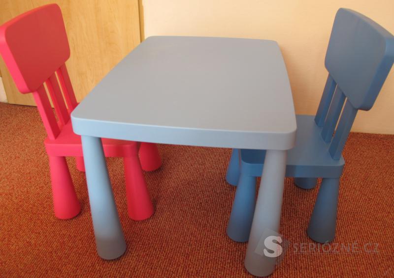 Set dětský stolek Mammut Ikea + 2 židle