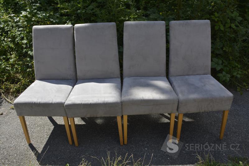 Krásne dizajnové jídelí židle 4 ks, značka MOBITEC