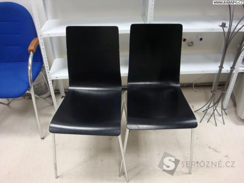 Kuchyňská jídelní židle překližková, kovová černá