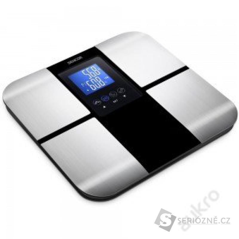 Osobní váha SBS 6015 BK, černá/stříbrná
