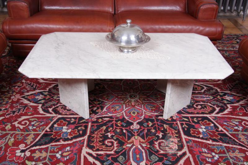 Italský designový konferenční stolek, mramorový