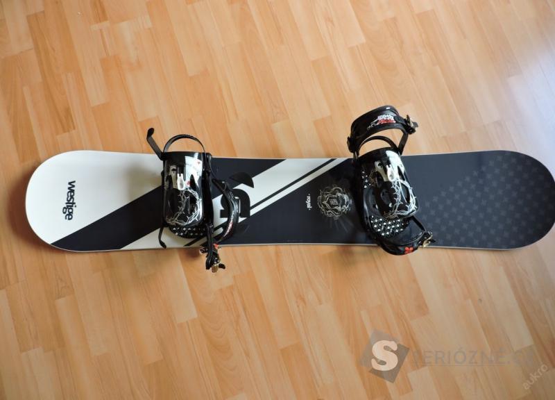 Snowboard Westige 159w + vázání + boty vel. 45