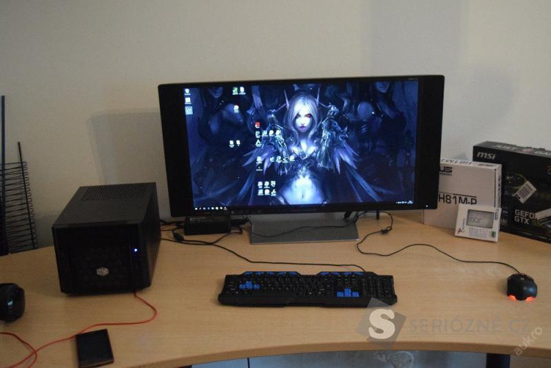 Malé nabušené herní PC + 32