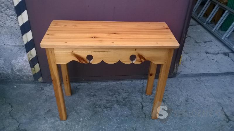 toaletni stolek, masiv, borovice