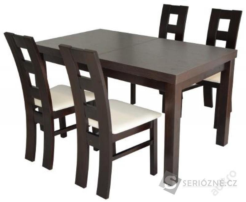 ROZKLÁDACÍ STŮL 140x80cm + 4 židle
