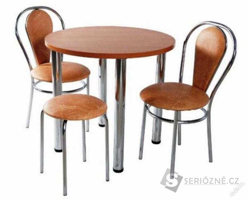 Kuchyňská jídelní sada 2 židle + stůl + stolička