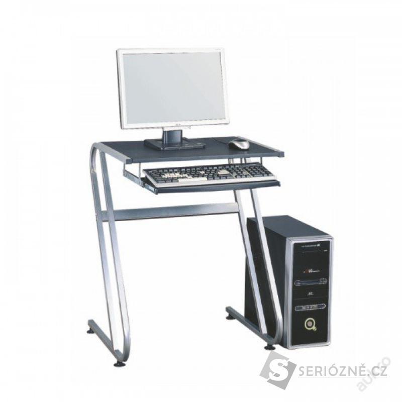 Kancelářský stůl, černá + stříbrná