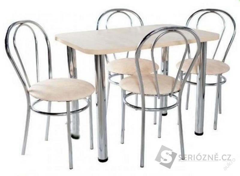 Kuchyňská jídelní sada 4 židle + stůl 60x100cm