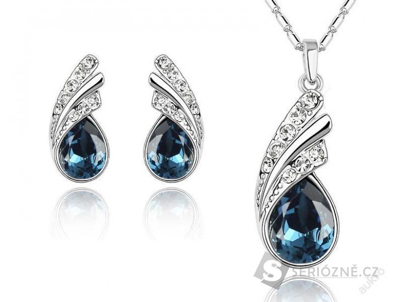 SWAROVSKI náušnice + náhrdelník