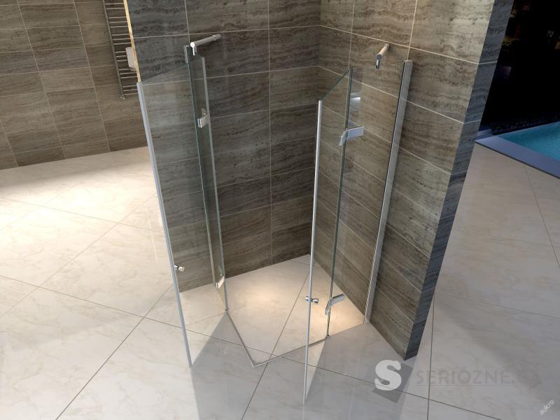 Skleněný sprchový kout Hinge 80x80 - 2x dveře