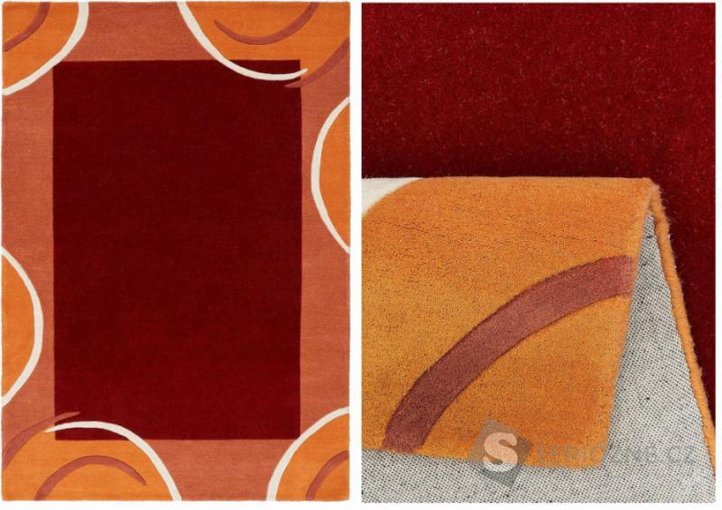 Oranžový koberec - 200/290
