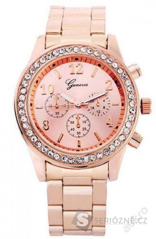 Luxusní dámské hodinky Geneva s kamínky