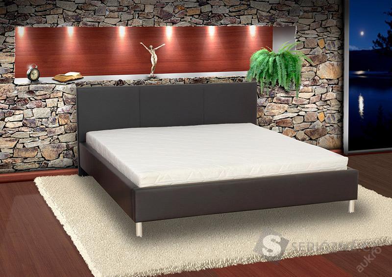 Moderní postel Florida s lamelovým roštem