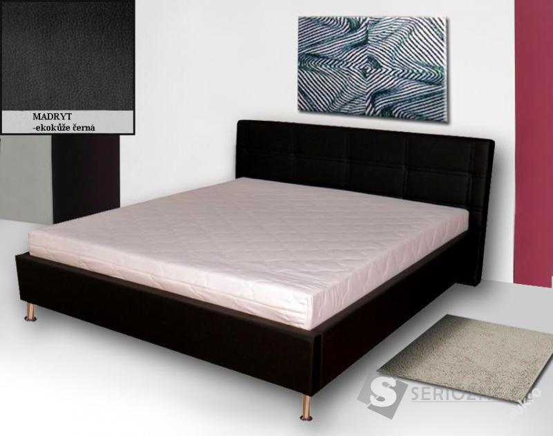 Manželská postel Pusch s lamel. roštem a matrací