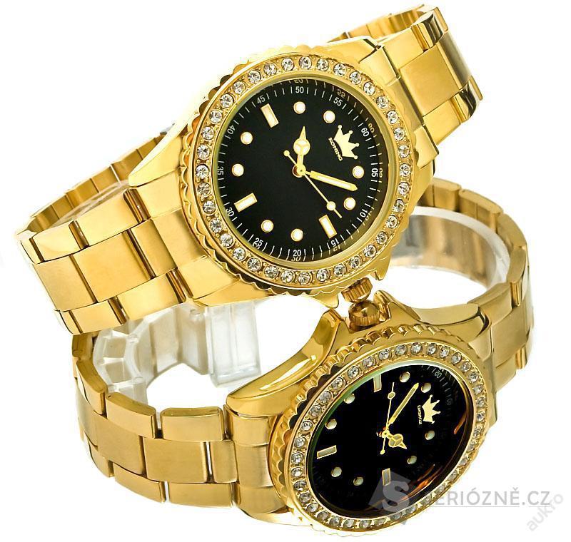 Kvalitní dámské hodinky KONING - zdobené kamínky