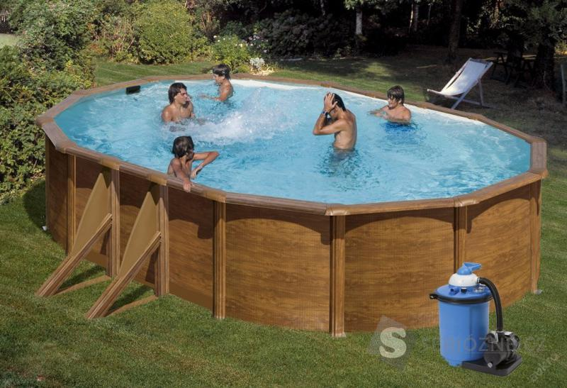 Bazén GRE Pacific 7,3 x 3,75 x 1,2m set + filtrace