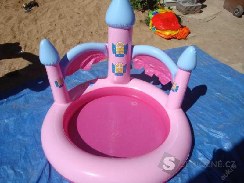 Dětský bazén - růžový hrad - průměr 75cm