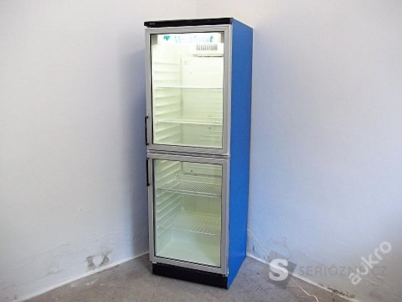 Prosklená lednice - chladnice vitrína