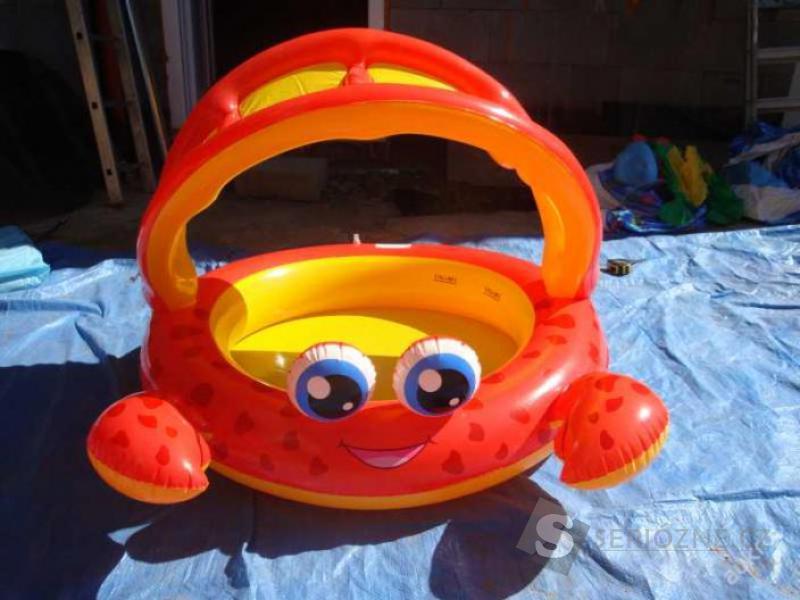 Dětský bazén krab se stříškou