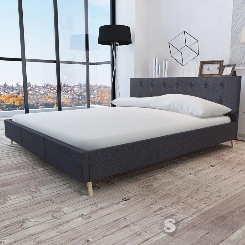 Čalouněné postel - tkanina dřevěný ram. 180x200