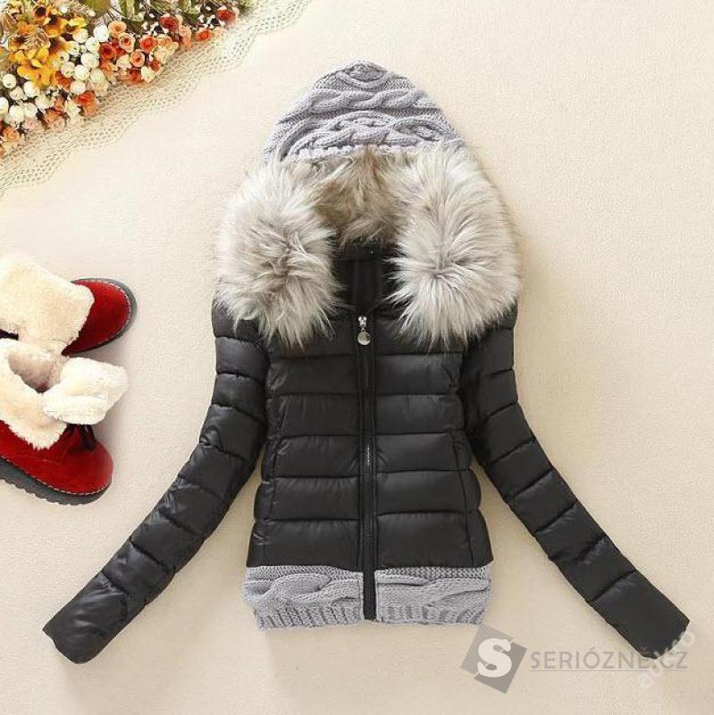 Luxusní dámská zimní bunda