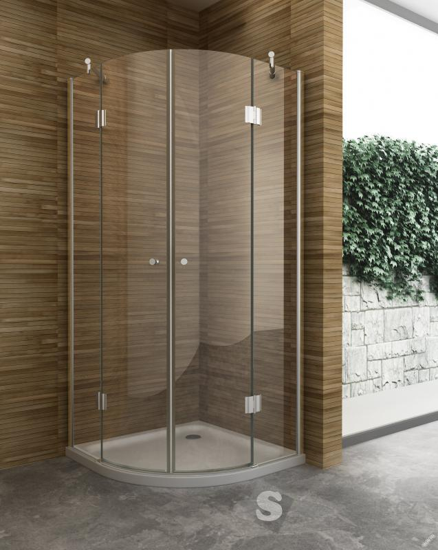 Skleněný sprchový kout čtvrtkruhový Hinge 90x90cm