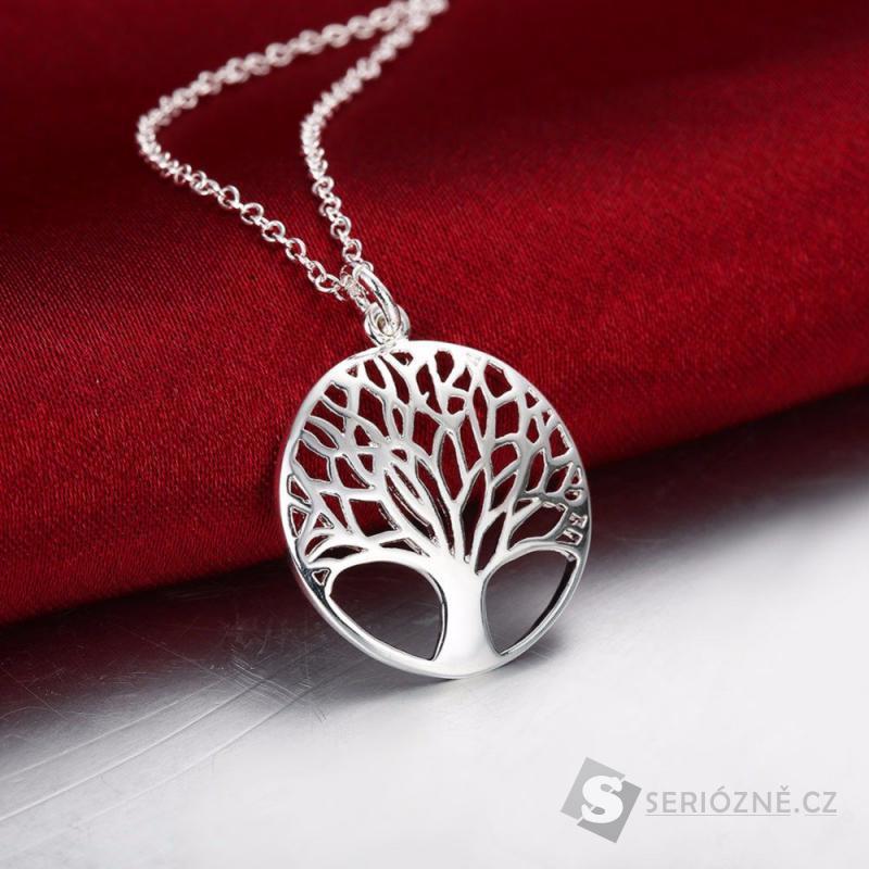 Krásný stříbrný náhrdelník
