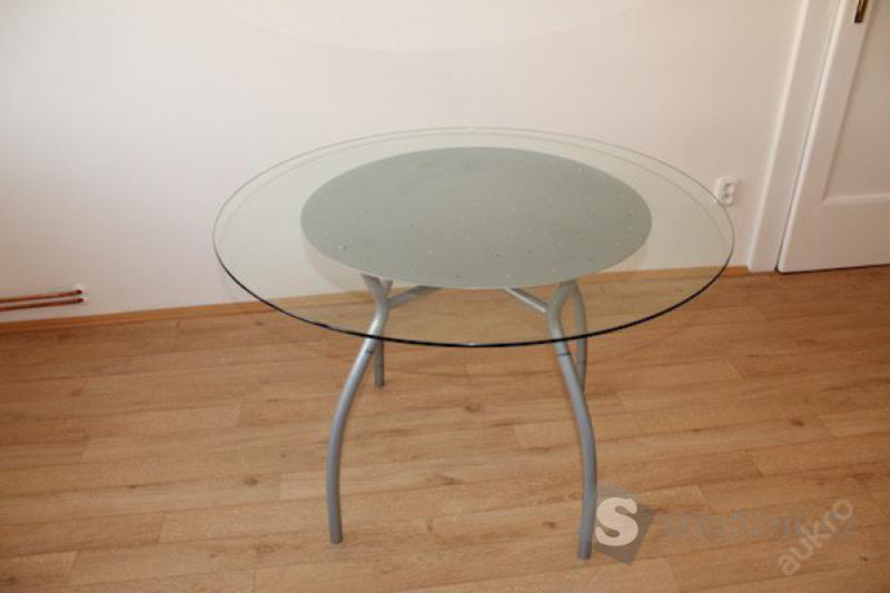 Jídelní stůl IKEA - kov + sklo