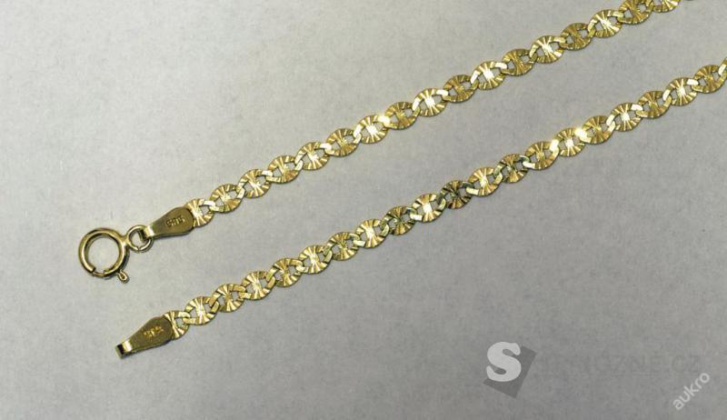 Zlatý řetízek AU0371 - žluté zlato