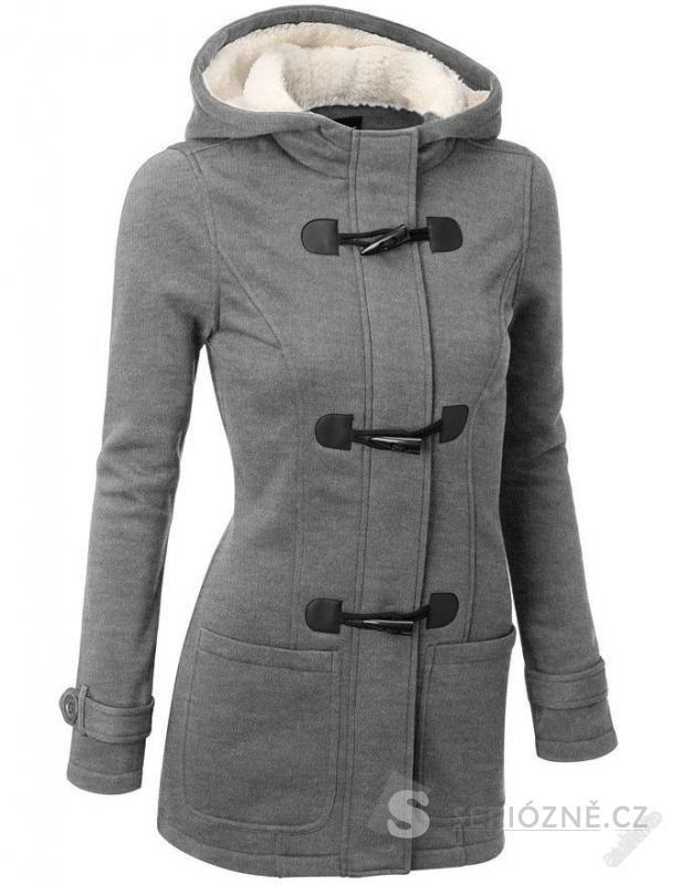 Luxusní elegantní zimní kabát