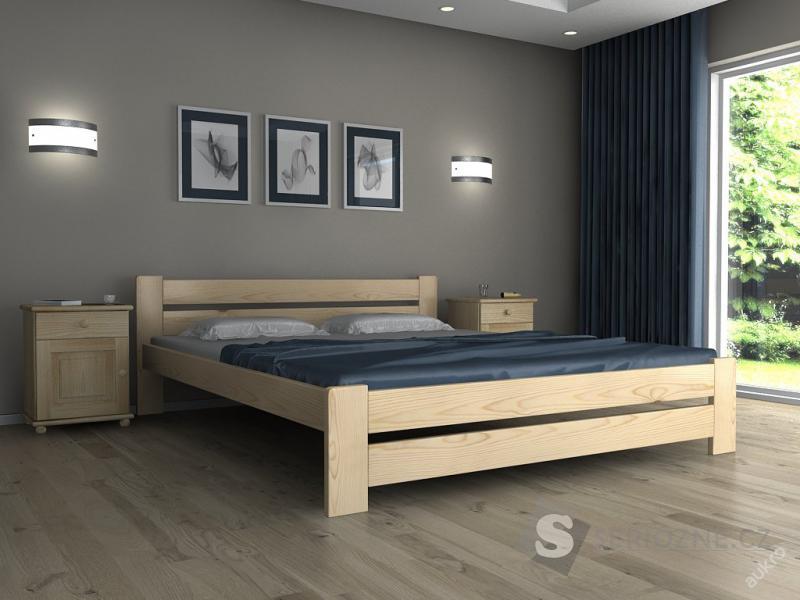 dřevěná postel EUREKA 140x200cm s matrací