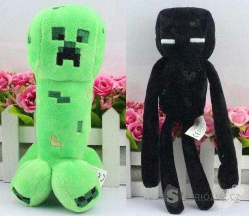 Super plyšáci CREEPER a ENDERMAN z hry MINECRAFT