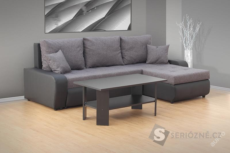 Rozkládací sedací souprava Fokus + stolek zdarma