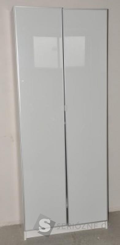Šatní skříň Ikea PAX, 2x dveře sklo, 5x police