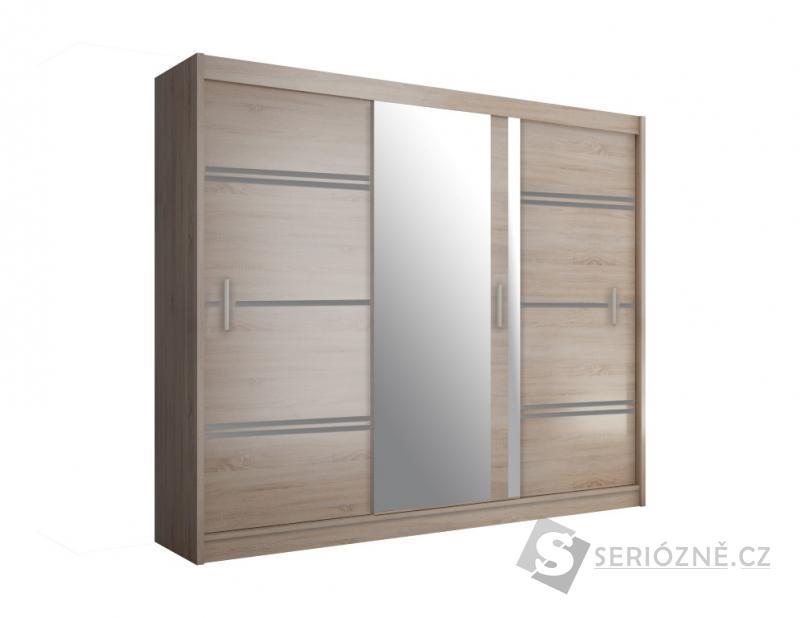 ŠATNÍ SKŘÍŇ KAMA 250 se zrcadlem