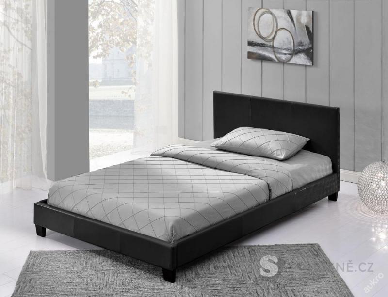 Manželská čalouněná postel - 160 x 200 cm