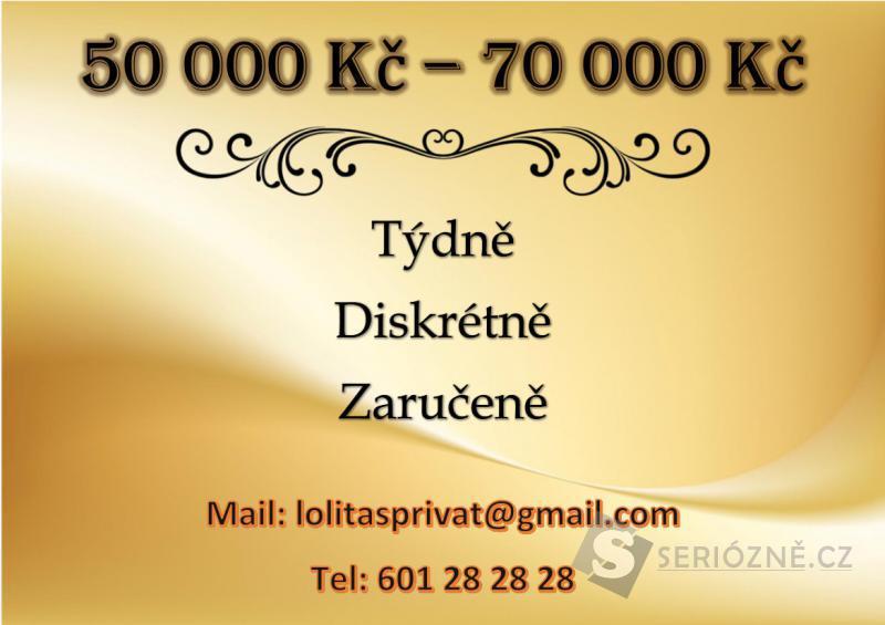 70 000 Kč týdně, diskrétně a zaručeně !