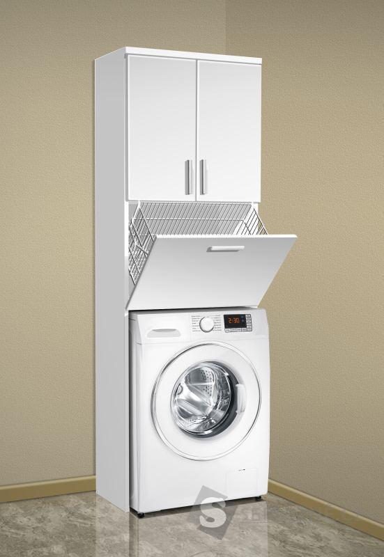 Vysoká koupelnová skříňka nad pračku